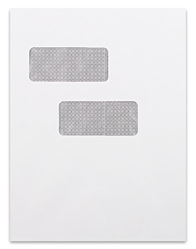 9 x 12 Double Window Envelopes with Tint and Self Seal (50pk) by Envelope Superstore