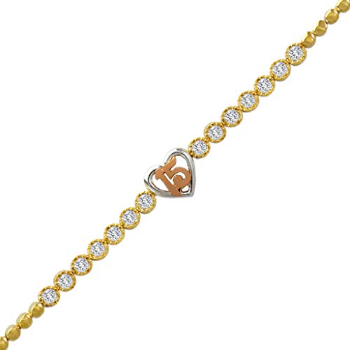 TOUSIATTAR CZ Bracelet 14K...
