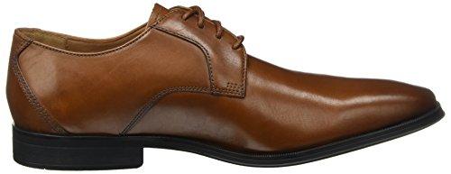 Cordones De Derby Lace dark Leather Clarks Gilman Marrón Hombre Tan Zapatos Para qtZRcIwf