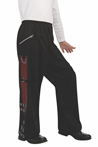 Michael Jackson Child's Value Costume Accessory Black Bad Buckle Pants, Large -