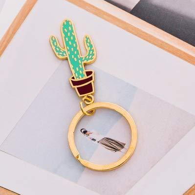 Eudola Porte Clef Cactus Mignon Porte-cl/és Sac Pendentif /Étiquettes /à Bagages en Plastique de Voyage Avec Porte-cl/és Ladies cadeaux