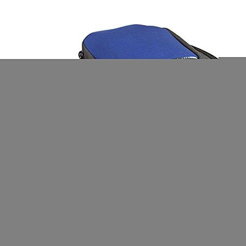 TRAVELMALL Unisex Hausschuhe Reise Faltbar Tragbar rutschfest Hausschuhe Schuhe Strand faltbar mit Tragetasche L schwarz Blau