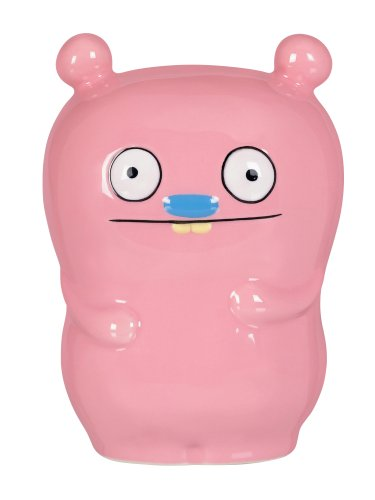 Uglydoll 5-1/4-Inch by 4-Inch by 3-1/2-Inch Trunko  Ceramic Coin Bank Collectible, Light (Ugli Doll)