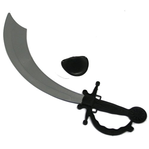 [Pirate Sword and Eye Patch Set] (Scallywag Pirate Costume)