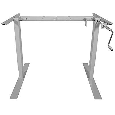 "Titan Manual Hand Crank Adjustable Sit-Stand Standing Desk Frame 50""H 63""W"