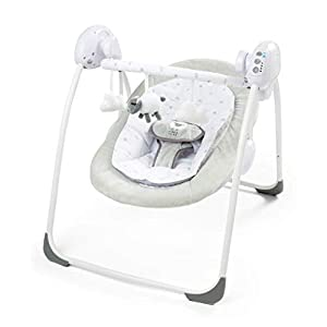 Deluxe Foldable Baby Bouncer Little Lamb Bear First Swing Soothing Music and Toys 0m+ (079)