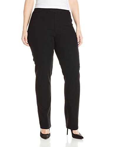 Petite Classic Fit Pants - Chic Classic Collection Women's Plus Size Easy Fit Elastic Waist Pull On Pant