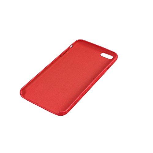 Phone Taschen & Schalen Für iPhone 6 / 6s, Ultra Fiber TPU Schutzmaßnahmen zurück Fall ( Color : Red )
