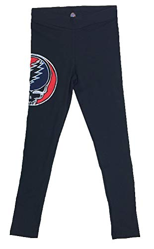 Leggings w/Cut Out Bolt | Jayli | Grateful Dead | GD-PW02 (Black, X-Large)
