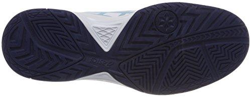 Asics Gel-Dedicate 5, Chaussures de Tennis Femme Multicolore (Whiteporcelain Blueindigo Blue 0114)