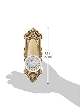 Largo Design Door Set with Diamond Crystal Knobs Privacy in Polished Brass Doorsets.