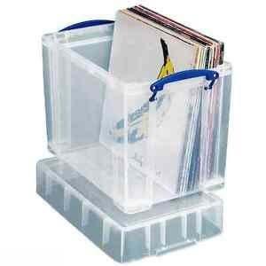 CUIDATUMUSICA Caja para 50 Discos DE Vinilo LP (Los Discos Grandes)- PLASTICO Muy Solido con Tapa: Amazon.es: Electrónica