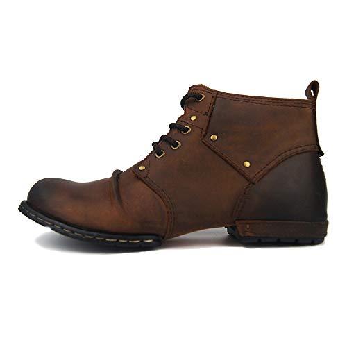 Uomo Uomo Colore Caviglia Caviglia 40 Stivaletto EU EU da Durevole Yzibei Dimensione Nero Formale da Scarpe alla Chelsea Marrone in Uomo xwtOz7q