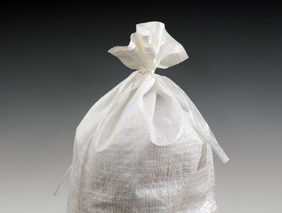 20'' x 36'' Woven Polypropylene Sandbags with Attached Tie-String (100 Bags) - White - AB-30-2-179 by Miller Supply Inc
