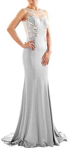 Evening Gown White Prom Dress Jersey Formal MACloth Long Lace Women Mermaid Party RqaSz