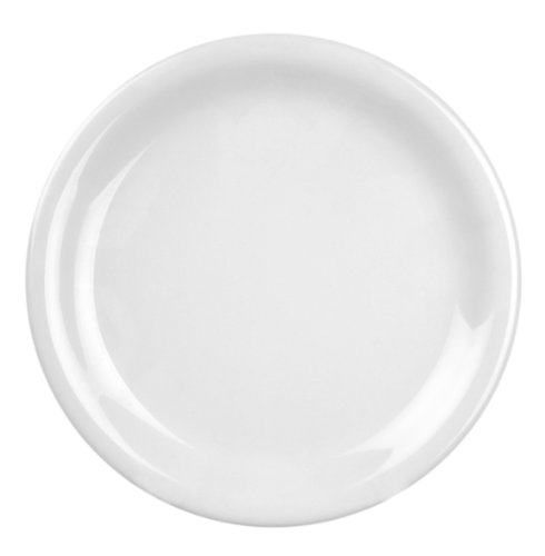 Global Goodwill Coleur Series 12-Piece Narrow Rim Plate, 6-1/2-Inch, Coleur White