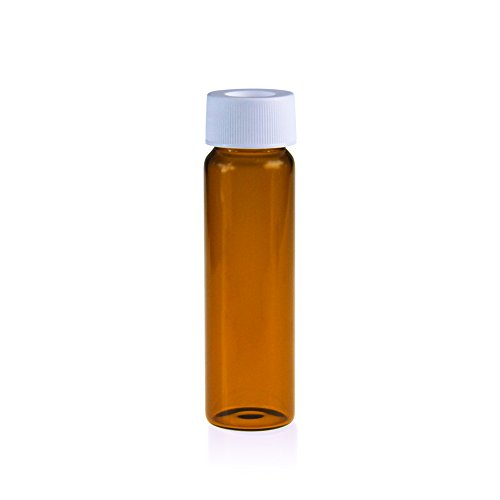 ALWSCI Borosilicate Glass 40ML Clear/Amber, EPA TOC Screw Neck Vial with Certified Case of 72 (Amber) (Clear Vials Certified)