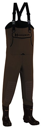 Wader Hodgman Suspenders (Hodgman CASTCBC10 Caster Neoprene Cleated Bootfoot Chest Waders, Size 10, Brown)