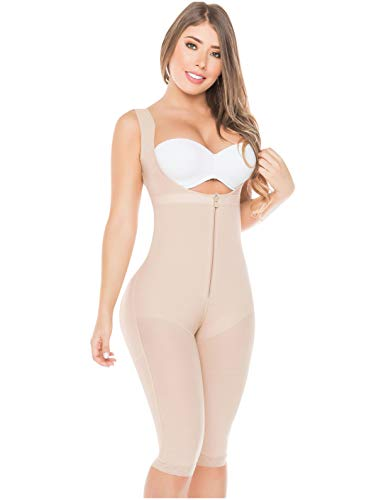- Salome 0520 Fajas Reductoras Y Moldeadoras Colombianas Liposuction Compression Garments Beige M
