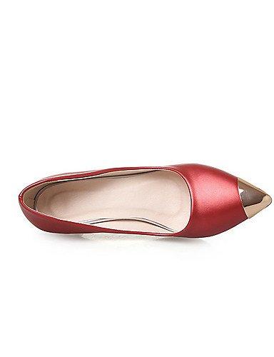 GGX/Damen Spitz geschlossen Zehen Spikes Absätzen massiv Pull auf pumps-shoes red-us6.5-7 / eu37 / uk4.5-5 / cn37