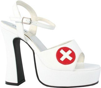 White Betty Shoes Adult - Betty-557 Adult Costume Shoes White -