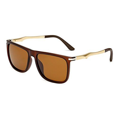 aluminio Volver KP7037 retro polvoriento C4 sol polarizadas de sol Gafas KP7037 sol Gafas gafas C3 Sunglasses de de TL de Plaza ItZUqa