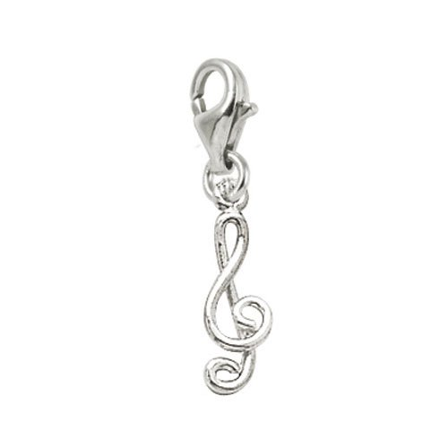 Rembrandt Charms Music Charm with Lobster Clasp, 14k White Gold