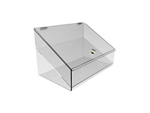FixtureDisplays Acrylic Plexiglass Lucite Candy Food Retail Bin Container Dispenser 11944-BBL-NPF by FixtureDisplays