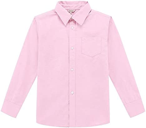 Bienzoe Niño Uniforme Escolar Manga Larga Oxford Camisa: Amazon.es: Ropa y accesorios