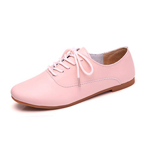 Spring Women Oxford Shoes Ballerina Flats Moccasins Lace up Solid...