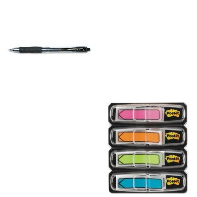 Flag Gel Pen (KITMMM684ARR4PIL31020 - Value Kit - Post-it Arrow 1/2amp;quot; Flags (MMM684ARR4) and Pilot G2 Gel Ink Pen (PIL31020))