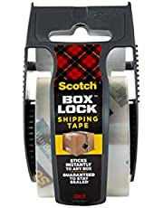 Scotch Box Lock Packaging Tape, 1 Roll with Dispenser, 1.88 in x 800 in, Extreme Grip, Sticks Instantly to Any Box (195)