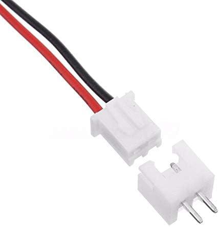 10 Juegos Mini Micro JST XH2.54mm Conector de 2 Clavijas Enchufe con Cables Cables 150mm