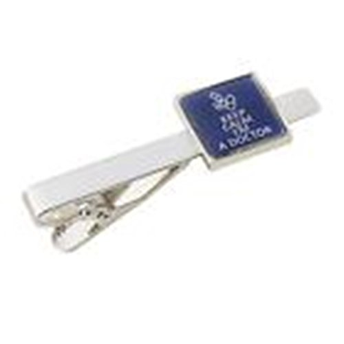 Mondaily - Keep Calm I'M A Doctor Tie Clip Bar Clasp Office Medical Stethoscope Gift #PPTE5103