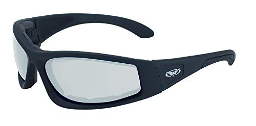 Global Vision Eyewear 24 Triumphant Series Safety Glasses with Black Frames and Clear ()