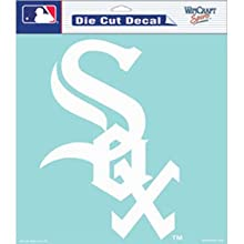 """WinCraft MLB Chicago White Sox Die-Cut Decal, 8""""x8"""", Team Color"""