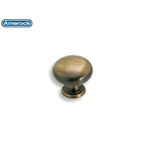 (Amerock BP1950AE Allison Value Hardware Round Knob, 1-1/4-Inch, Antique Brass by Amerock)