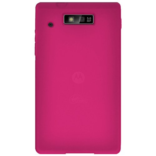 Amzer Silicone Skin Jelly Case for Motorola Triumph - 1 Pack - Hot -
