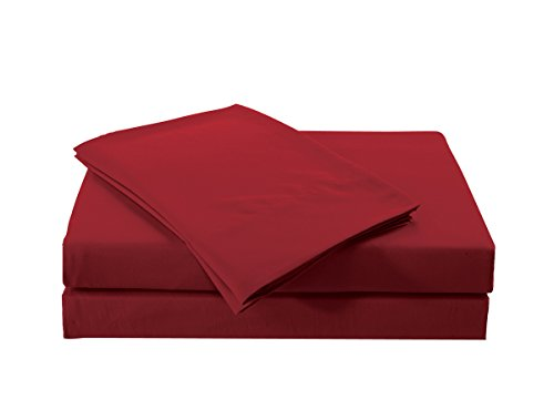 Jackson Hole Home 18 inch Super Deep Pocket Heavier Microfiber 4PC Sheet Sets, Red, King