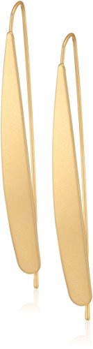 CANVAS Womens Brushed Gold Tone Metal Wire Marquis Earrings, One Size