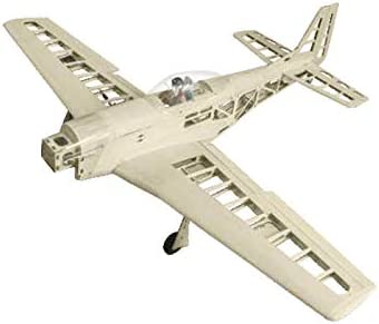 Jamara 006151-Mustang P-51D 1400 mm GP/EP CNC Lasercut Kit de construcción Avion RC, Color Madera (6151)