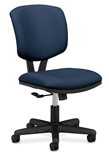 HON H5701.GA90.T Volt Low-Back Task Chair - Upholstered Computer Chair for Office Desk - Navy Fabric -
