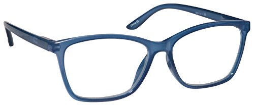 The Reading Glasses Company Bright Blue Readers Large Designer Style Mens Womens R51-3 +1.25