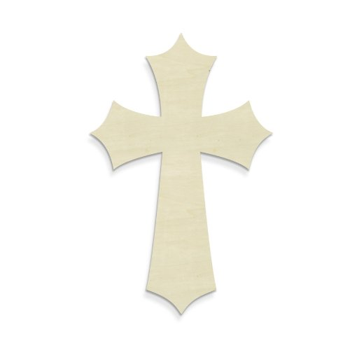 UNFINISHEDWOODCO Unfinished Pointy Cross, 16-Inch