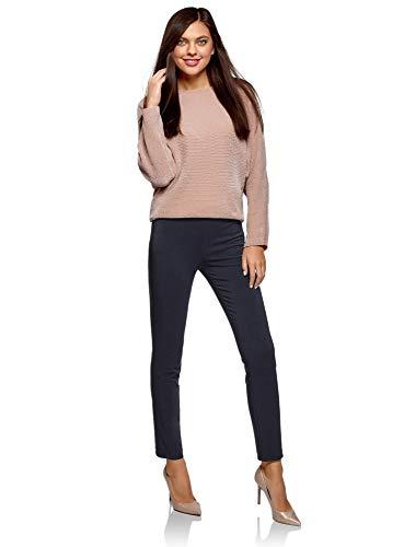 7900n Donna Con Stretti Pantaloni Blu In Oodji Vita Elastico Ultra AByzwaZ