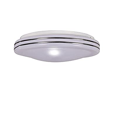 MASO HOME, MS-61562 Simplicity 18W LED 14-Inch Round Surface Interior Flush-Mount Ceiling Light Fixture with Modern and Simple Style, White
