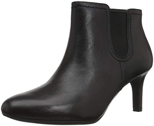 Clarks Women's Dancer Sky Fashion Boot, Black Leather, 9 M US
