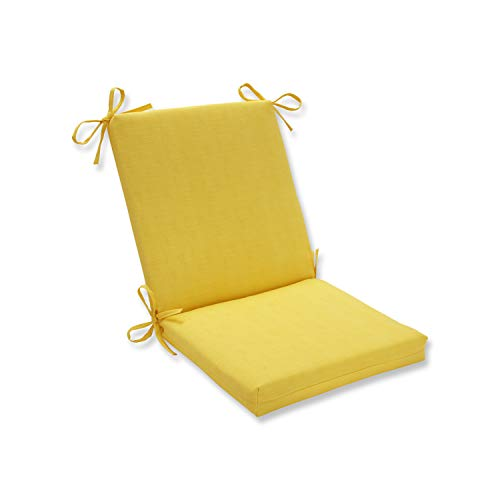 Pillow Perfect Outdoor Fresco Yellow Squared Corners Chair Cushion