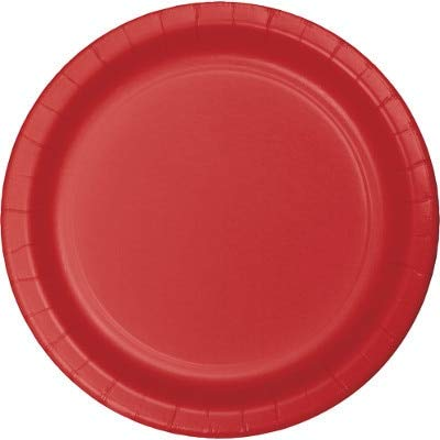 Creative Converting Table Needs, Lunch Plate, Party Supplies, Red, 7'', 8ct