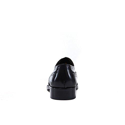 British Passport Oxford, Chaussures de Ville à Lacets Pour Homme Noir Noir